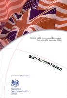Fifty Ninth Annual Report of the Marshall Aid Commemoration Commission for the Year Ending 30 September 2012 PDF