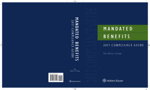 Mandated Benefits 2017 Compliance Guide PDF