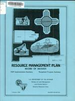 Record of Decision on the Proposed Socorro Resource Management Plan   Final Environmental Impact Statement PDF