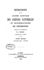Mémoires de la Société nationale des sciences naturelles et mathématiques de Cherbourg: Volume33;Volumes1902à1903