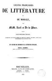 Leçons françaises de Littérature et de Morale augmentée ...