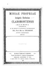 Missæ propriæ insignis ecclesiæ Claromontensis