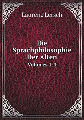 Die Sprachphilosophie Der Alten