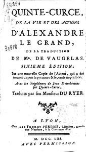 Quinte-Curce, De la vie et des action d'Alexandre le Grand