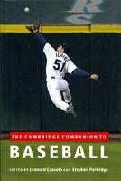 The Cambridge Companion to Baseball PDF