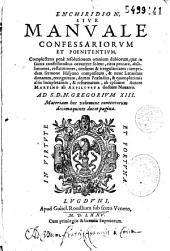 Enchiridion sive Manuale confessariorum et poenitentium... [Simonis Magni hendecasyllabon]
