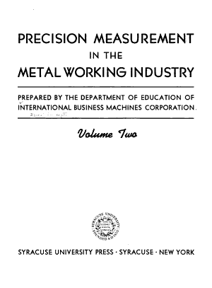 Precision Measurement in the Metalworking Industry PDF