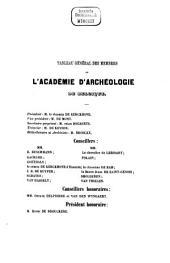 Bulletin et annales de l'Académie d'Archéologie de Belgique: Volume 3