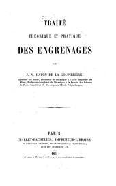 Traité théorique et pratique des Engrenages