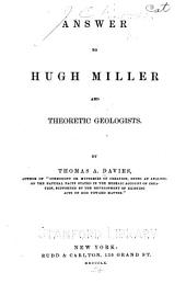Answer to Hugh Miller and theoretic geologists