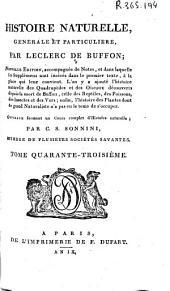 Histoire naturelle generale et particuliere: Volume43
