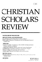 Christian Scholar s Review PDF