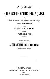 Chrestomathie française: Littérature de l'enfance
