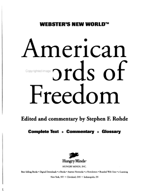 Webster s New World American Words of Freedom PDF