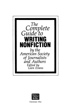 The Complete Guide to Writing Non fiction PDF