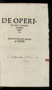 De Operibus Dei