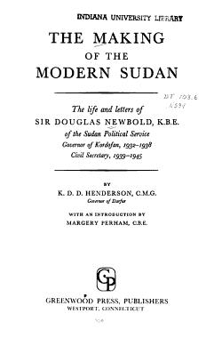 The Making of the Modern Sudan PDF