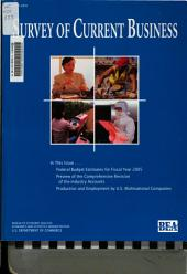 Survey of Current Business: Volume 84, Issue 3