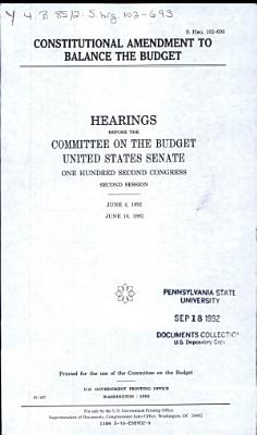 Constitutional Amendment to Balance the Budget PDF