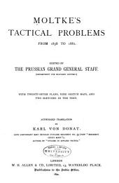 Moltke's Tactical Problems from 1858-1882