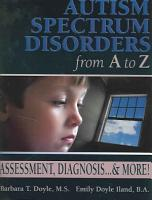 Autism Spectrum Disorders from A to Z PDF