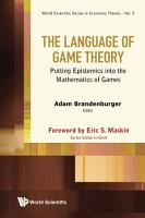 The Language of Game Theory PDF