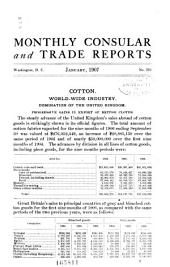 Monthly Consular and Trade Reports: Issues 316-318