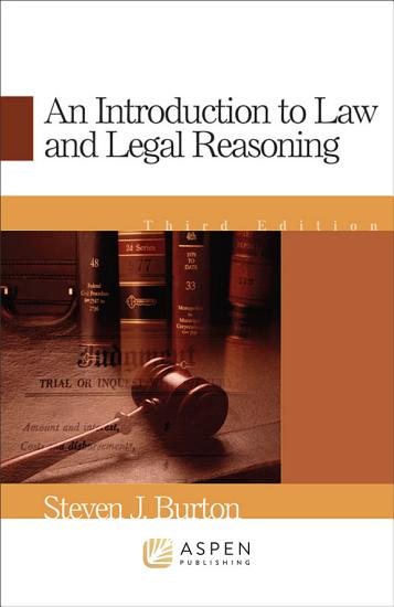 An Introduction to Law and Legal Reasoning PDF