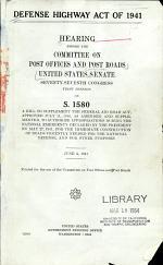 Defense Highway Act of 1941