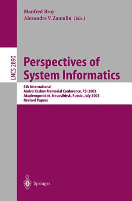Perspectives of Systems Informatics PDF