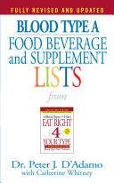 Blood Type a Food, Beverage and Supplement Lists