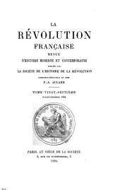 La Révolution française: Volumes27à28