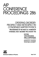 Ordering Disorder  Prospect and Retrospect in Condensed Matter Physics PDF