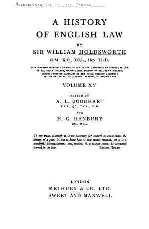 A History of English Law: From the Reform act of 1832, to the Judicature acts (1873-1875)