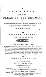 A Treatise Of The Pleas Of The Crown Book PDF