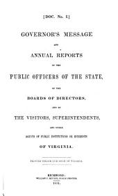 Annual Reports of Officers, Boards and Institutions of the Commonwealth of Virginia: Part 1