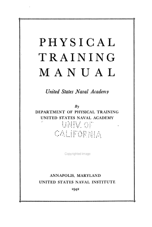 Physical Training Manual  United States Naval Academy