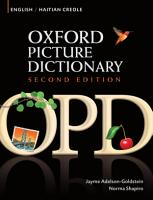 Oxford Picture Dictionary English Haitian Creole Edition  Bilingual Dictionary for Haitian Creole speaking teenage and adult students of English  PDF