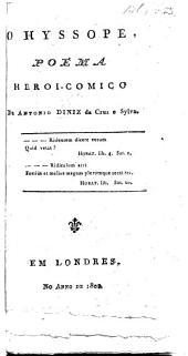 O Hyssope, poema heroi-comico