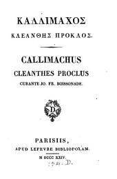 Kallimachos Kleanthēs Proklos