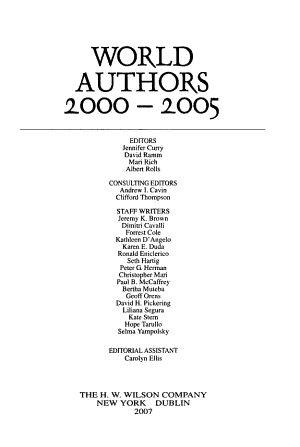 World Authors, 2000-2005