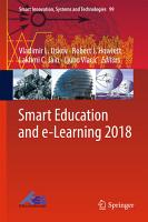 Smart Education and e Learning 2018 PDF