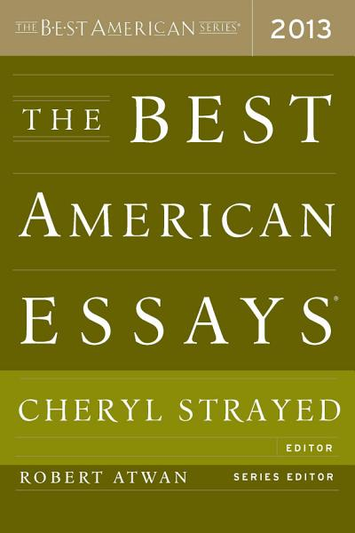 Download The Best American Essays 2013 Book