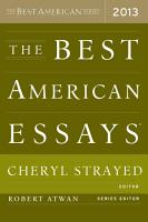 The Best American Essays 2013 PDF