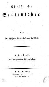 Christliche Sittenlehre. 3. Theile [in 4 vols.].