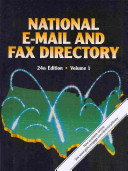 National E mail and Fax Directory PDF