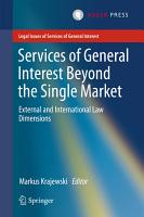 Services of General Interest Beyond the Single Market PDF