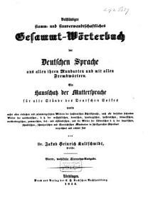 Vollst  ndiges stamm  und sinnverwandtschaftliches Gesammt  W  rterbuch der Deutschen Sprache PDF