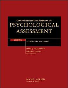 Comprehensive Handbook of Psychological Assessment  Volume 2 Book