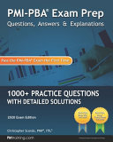 PMI PBA Exam Prep Questions  Answers  and Explanations